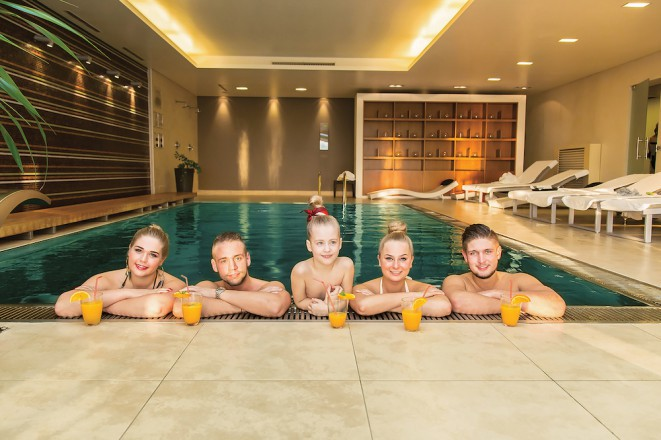 Wellnessbereich auf 300 m2  im Wabi Beauty Center in Sopron